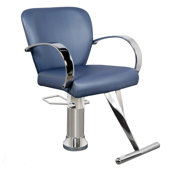 Amilie am 60 kaemark owi salon styling chair in 19 colors for Colored salon chairs