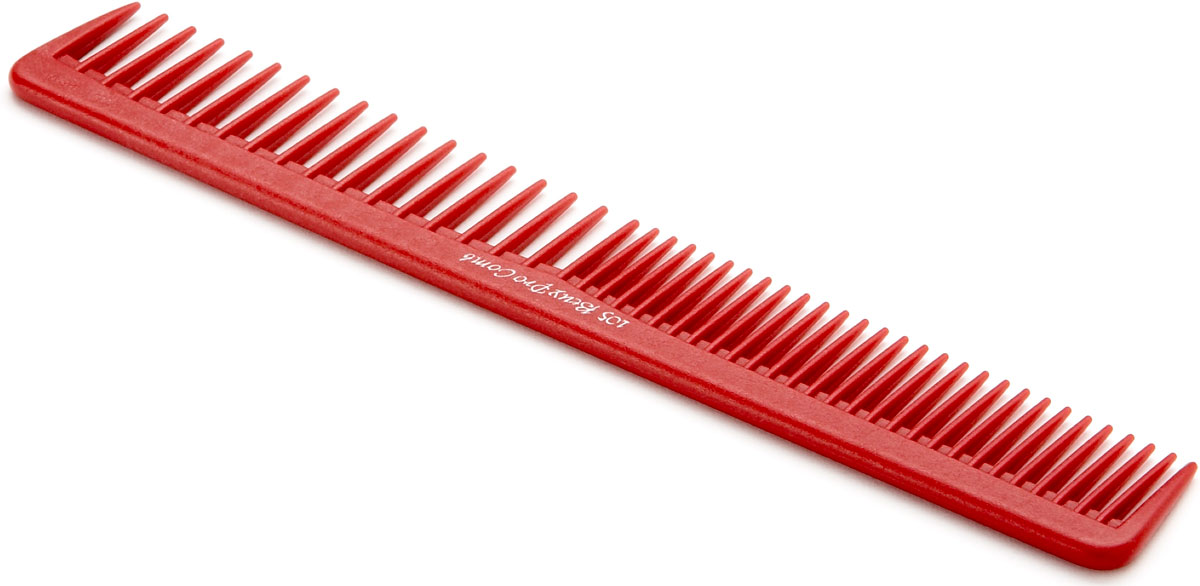 Buey Pro 105 Dry Hair Cutting Comb In Red