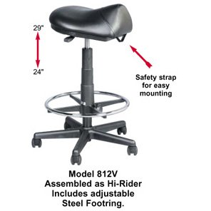 Professional 812v Salon And Barber Saddle Stool