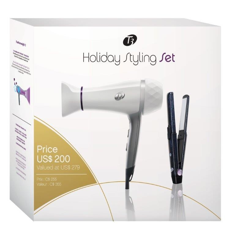 Free Shipping T3 Holiday Styling Set Dryer Amp Compact