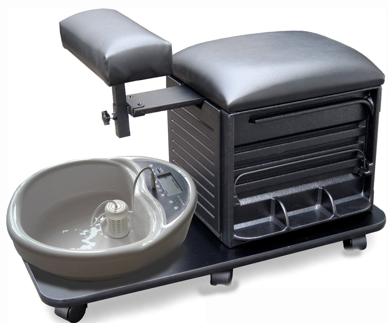 Dina Meri 2317 Pedi Board Pedicure Stool In Black Free