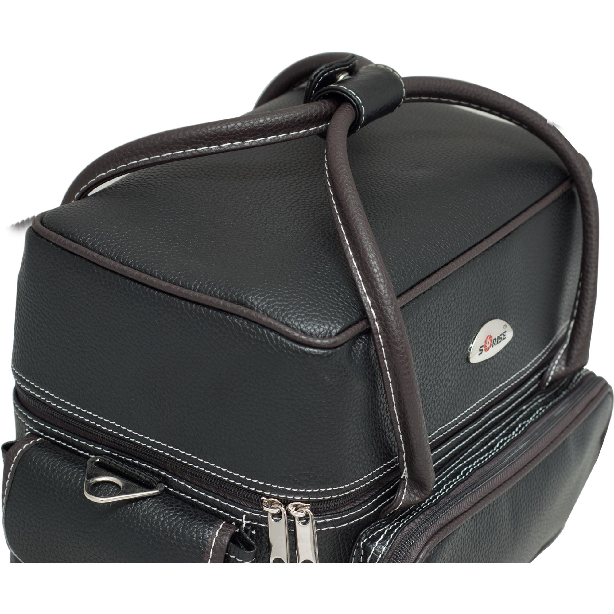 Sunrise Black Soft Leatherette Nail Tech Artist Travel Case C3027