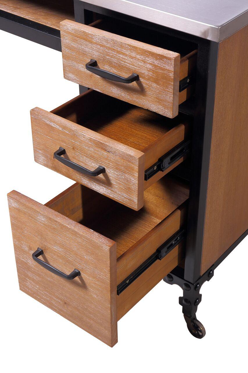 Rustic Wood 469 Mt Rw Kaemark Single Manicure Table Free