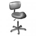 Dina Meri 915-BS Rodeo Saddle Seat Salon Stool w/Adjustable Back Rest + Free Shipping