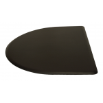 "4'D x 5'W x 5/8""T Half Round Salon Mat No Depression 4050CN by IC Urethane"