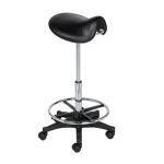 Lily SAV-015 Saddle Stool In Black + Free Shipping!
