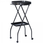 Kayline Designed FT59-C BLACK Fold-A-Way w/ Bottom Tray & Towel Holder + Free Shipping!