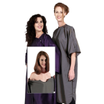 8701 Zip-On Silkarah Short Sleeve Salon & Spa Smock, Client Gown in 11 Colors + Free Shipping!