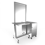 Collins Veeco AV-128-SS Stainless Steel Double Styling Station with Storage