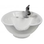 Kaemark KS-933 Porcelain Tilt-Bowl Shampoo Bowl in White or Black + Free Shipping!