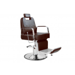 George SAV-049-MC Savvy Kaemark Barber Chair in Brown + Free Shipping!