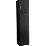 Veronica SAV-603 Tall Tower Salon Station / Storage In Black & Espresso + Free Shipping