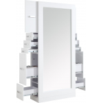 Sydney SS-SYD-020 Kaemark Double Styling Station in White + Free Shipping!