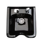 SalonTuff SABS-PF Square Plastic Shampoo Bowl w/ PF Petite Faucet - Black + Free Shipping!