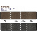 "16.25' x 4' x 3/4"" Granite Collection Salon Mat Runner In 2 Colors + Free Shipping"