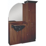 Ellipse EP-60CR Kaemark Wet Salon Station w/Crown & Mirror In 22 Colors + Free Shipping!