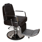 George SAV-049-B Savvy Kaemark Barber Chair in Black + Free Shipping!