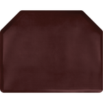 "Vintage Leather 4' x 5' x 3/4"" Mahogany Luxe Vintage Dye-Washed Anti-Fatigue Mat + Free Shipping"