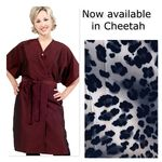 8703 Cheetah Short Sleeve Salon Spa Client Gown by The Cape Company + Free Shipping!