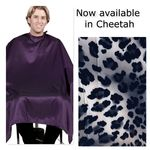 8902MS Cheetah Microsoftex Hair Cutting Salon & Barber Cape + Free Shipping!