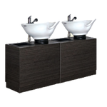 Rococo RC-70-B-R Kaemark Double Tilt-Bowl Shampoo Station In 8 Colors + Free Shipping!