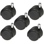 Set of 5 Heavy Duty Caster Replacement Wheels for ALL Kayline & King Stools in Black + Free Shipping