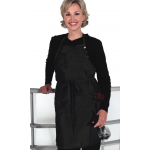 8816 Silkarah Mid Thigh 2 Pocket Salon Bib Apron in 11 Colors + Free Shipping!