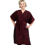 SALE - 8703 Silkarah Short Sleeve Salon Spa Client Gown by The Cape Company in 9 Colors + Free Shipping!