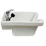 KEEN Tuscano Wall Mount Salon Sink White KN-28-WM-W
