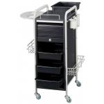 SALE! Lydia SAV-505 GRAY/BLACK Savvy Kaemark Roller Cart Trolley + Free Shipping