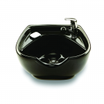 Collins Veeco AR-4000-SFVB Porcelian Shampoo Bowl with Built In SFVB In Black or White