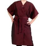 SALE - 8703 PeachSkin Short Sleeve Spa Client Gown, Kimono Wrap by The Cape Company in 2 Colors + Free Shipping!