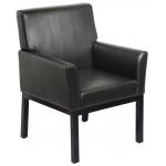 Charles SAV-368 Savvy Kaemark Reception Chair In Black + Free Shipping!