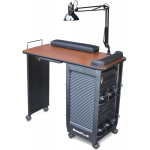 Dina Meri 330 Mani Roll-ex Lockable Non-Vented Manicure Nail Table + Free Shipping