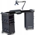 Dina Meri M602 Mambo Double Cabinet Lockable Nail Table + Free Shipping