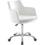 Tiffany SAV-027 Savvy Kaemark Salon Spa Reception Chair In White & Black