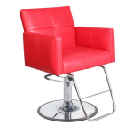 Valentina  SAV-064 Savvy Kaemark Salon Styling Chair in Red