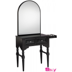 Josephine SAV-407 Savvy Kaemark Salon Shaker Styling Station w/Mirror In Black