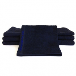 Black Bleachsafe® 13 x 13 Salon & Spa Wash Cloths 2 dz