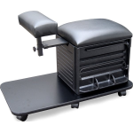 Dina Meri 2317 Pedi Board Pedicure Stool in Black