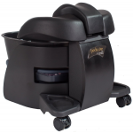 SALE - Dark Wood / Black Continuum Pedicute Portable Pedicure Spa In Dark Walnut + Free Shipping