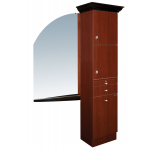 Ellipse EP-210CR Kaemark Crown Tower Styling Station w/Mirror & Shelf in 22 Colors + Free Shipping!