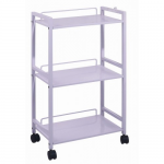 Salon Tuff MFT-DLX Salon 3-Shelf Trolley Cart in White