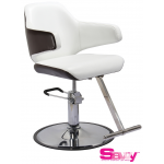 Danielle SAV-065 Savvy Kaemark Salon Styling Chair in White w/ Mocha or Black
