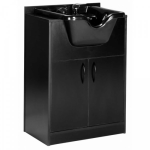 Salon Tuff SCP-PF Premium Shampoo Cabinet in Black With Bowl