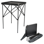 JustCase Black Portable Makeup Table & Stand