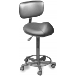 Dina Meri 916-BS Bronco Stool w/ Back Support + Free Shipping
