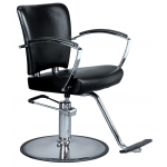 Kathleen SAV-035 Savvy Kaemark Styling Chair w/ Round Base in Black