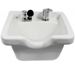 Kaemark KS-928 WHITE Porcelain Square Wall Mount Shampoo Bowl + Free Shipping!
