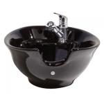 Kaemark KS-933 Porcelain Tilt-Bowl Shampoo Bowl in Black or White + Free Shipping!